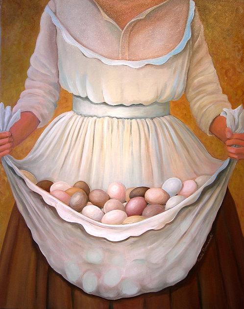 """""""Egg Bearer"""" acrylic"""