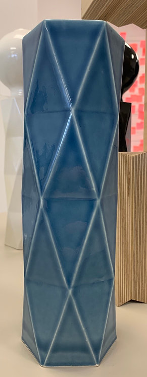 Faceted Column in Blue