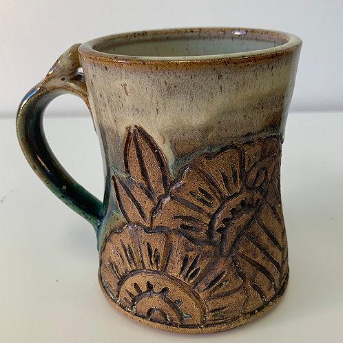 Birch and Turquoise Henna Mug