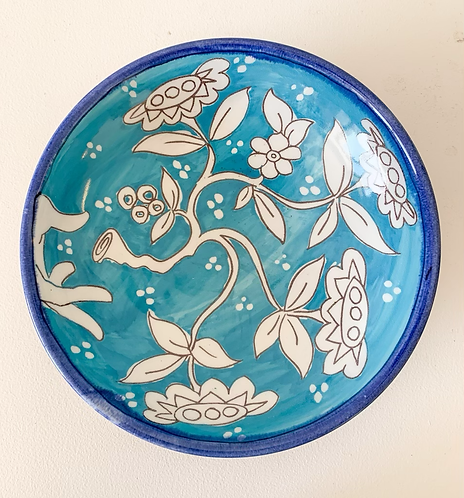 Medium Turquoise Tree of Life Bowl