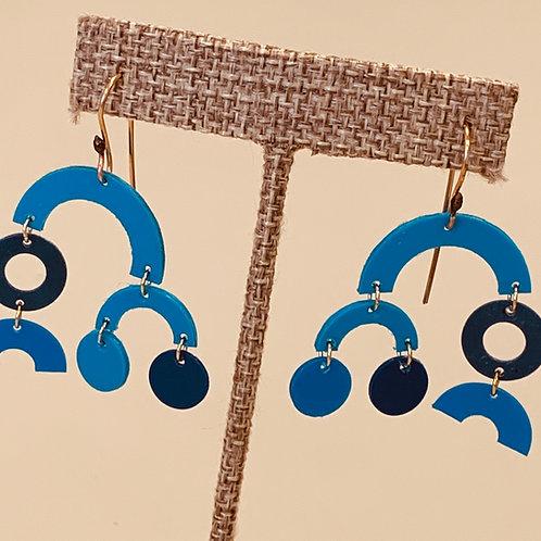 Blue Mobile earrings