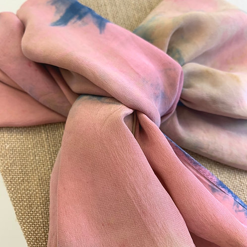 Pink and Indigo Scarf