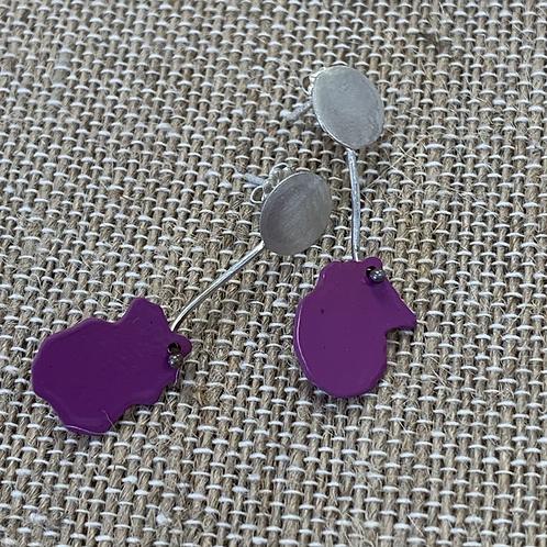 Clover Stud Drop earrings