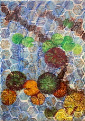 Ponds and Pools mixed media