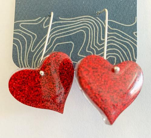 Ruby Slipper Heart earrings