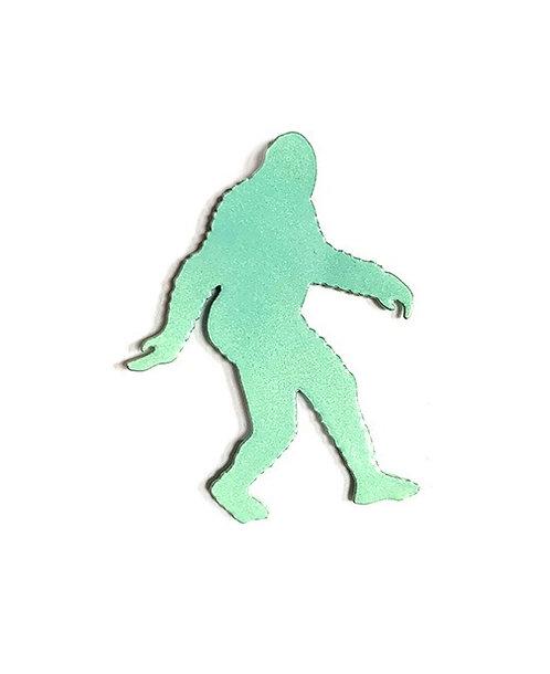 Mint green metallic Bigfoot Pin