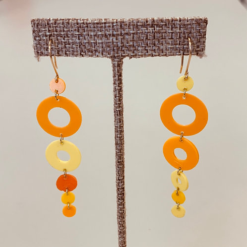 Orange Yellow Drop earrings
