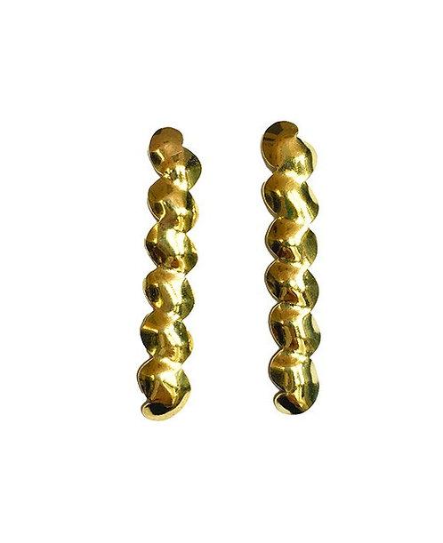 Ripple Earrings in gold