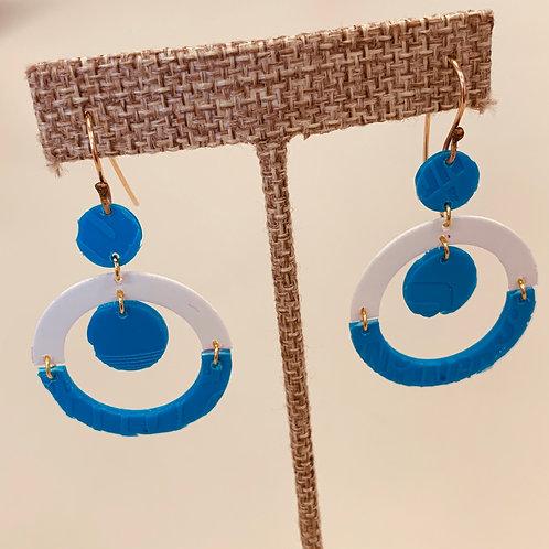 Blue/white Drop Earrings