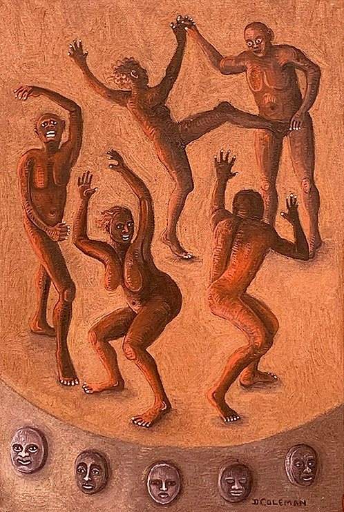 Interpretive Dance, 12x8 Oil