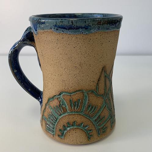 Cobalt Henna Mug