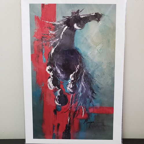 'Red Run' print of original by Terry Meyer  13x19""