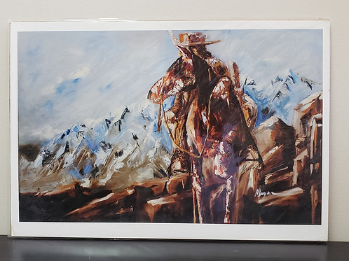 'Wild West' print by Terry Meyer 13x19""