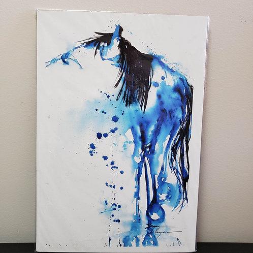 "'Indigo Horse' by Terry Meyer; 13x19"""
