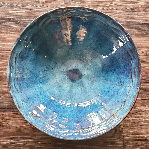 """Larger blue bowl by Eric Holey - 14"""""""