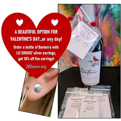 Liz Griggs earrings with Bonterra...a way to share your love!