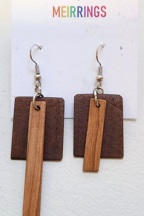 Hand-made wood Earrings by Meira Smit