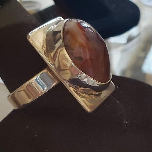 Azurite Malachite ring by Rob Romanshek
