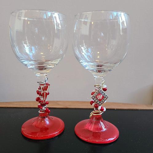 Set of 2 Wisconsin Badger glasses