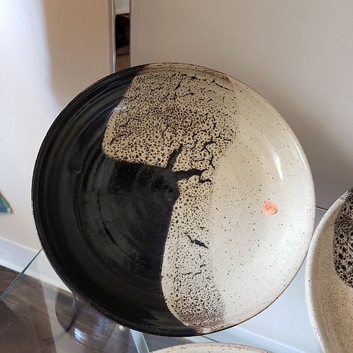 Black and cream pottery by Kate Bradley