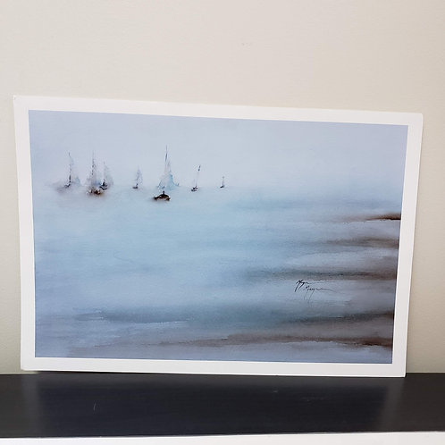 """'Gathering Offshore' print by Terry Meyer, 24x18"""""""