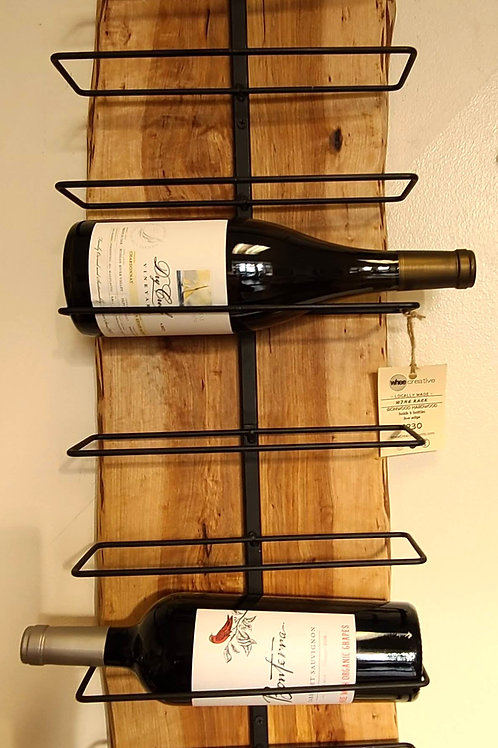 Hand-made wood wine wrack by Mike Buenger