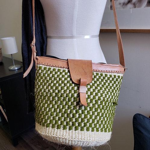 Woven fiber purse from Africa artisan women