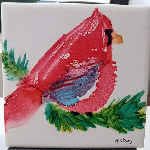 Cardinal tile byKathy O'Leary