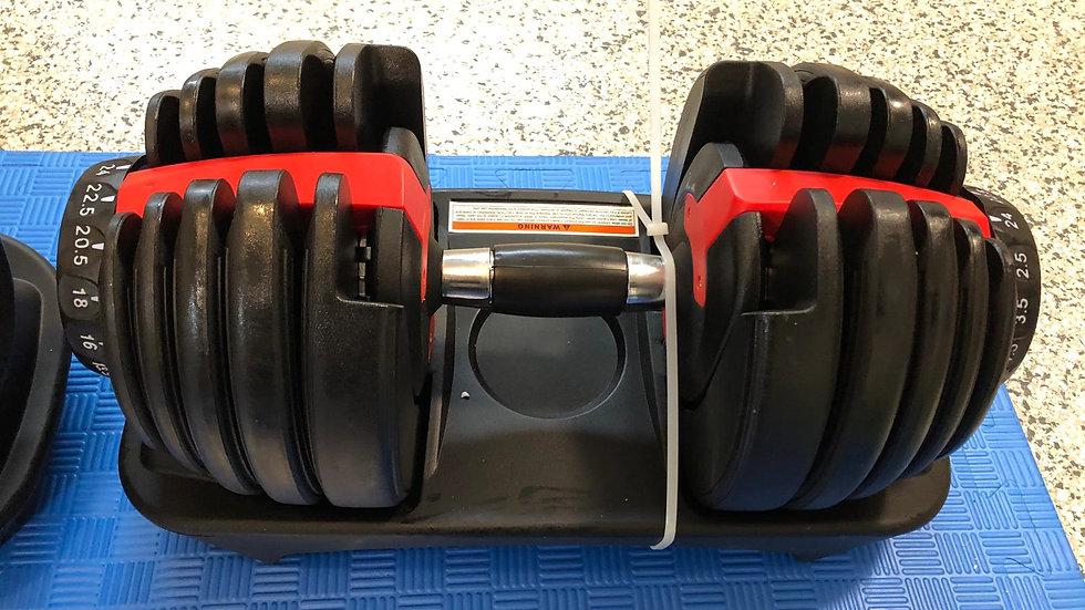 Adjustable Dumbbells (24kg / 40kg)