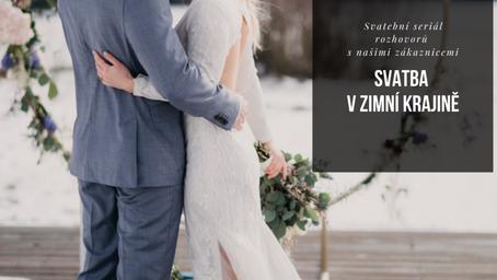 Svatba v zimní krajině