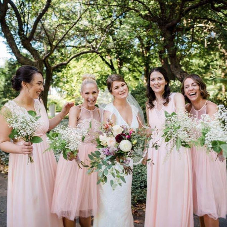 Catherine and her bridal party