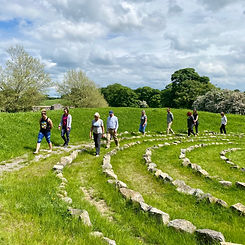 Walking the Spiral Labyrinth.JPG