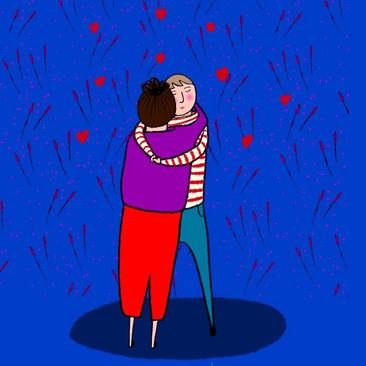 Socially Distanced Couples
