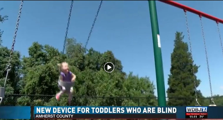 WDBJ 7 screen shot shows three-year-old swinging