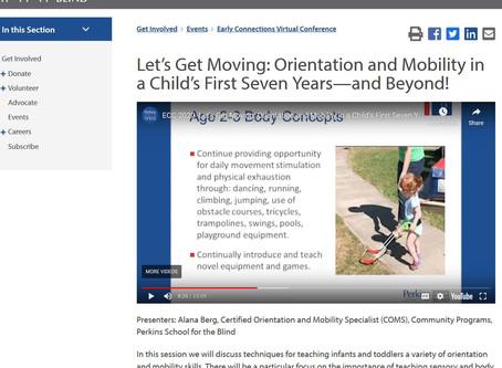 Perkins Endorses Belt Canes for Toddler Mobility!