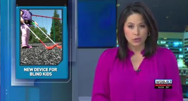 WDBJ 7 screenshot New Device for Blind Kids