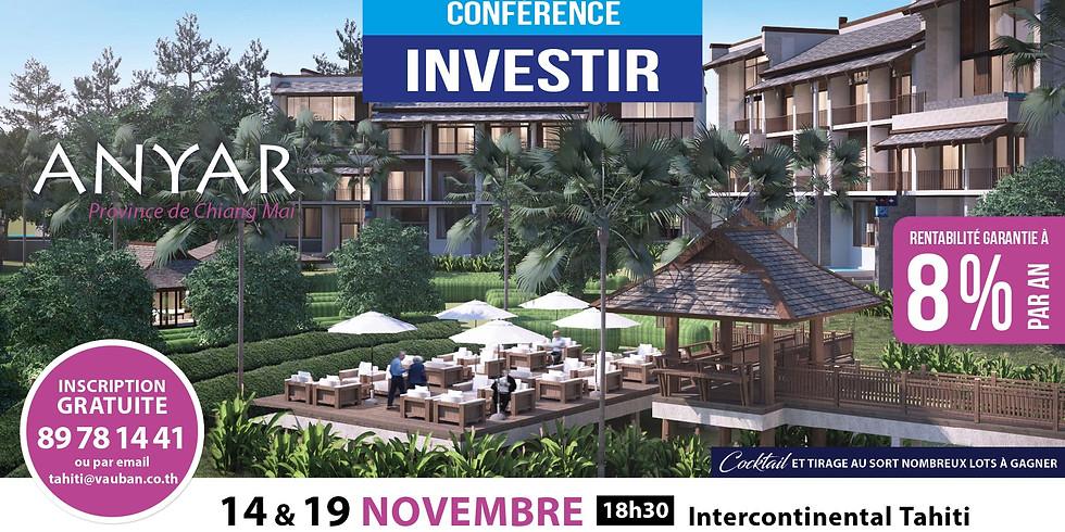 Conférence Investir à l'étranger  - Présentation du programme Anyar