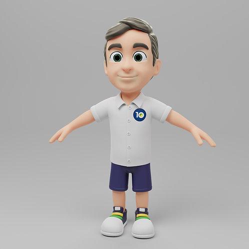Criação de Mascote 3D