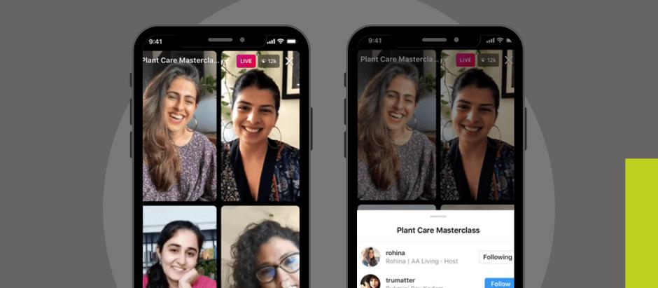 Foi lançado o novo recurso do Instagram, o insta live rooms