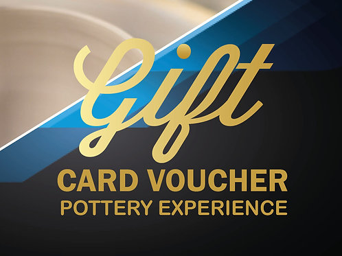 Pottery Experience Gift Card Voucher - PRINTED/POSTED