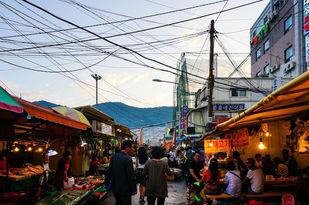 Busan city tour-Jagalchi fish market