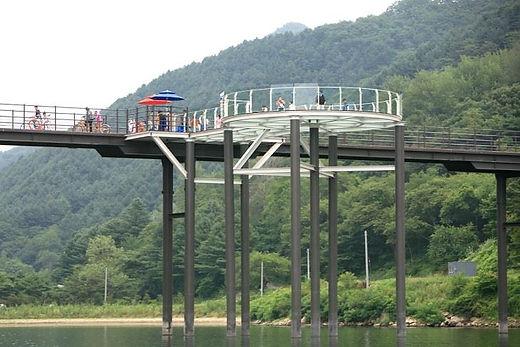 Korea private tour- Canoeng at Chuncheon City-Tagytravelkorea, Rail Bike, Leisure Activites at Chuncheon City Tour : SKY walk