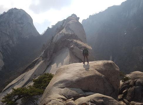Mt bukhansan Baekundae Peak