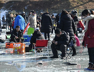 Ice Fishing / South Korea winter fastival
