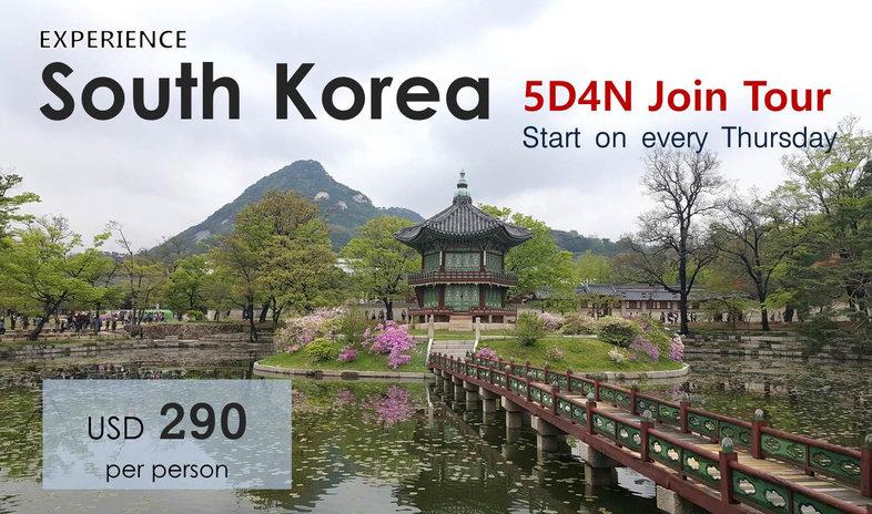 South Korea 5D4N Join Tour -Tagy Travel Korea USD290P/P