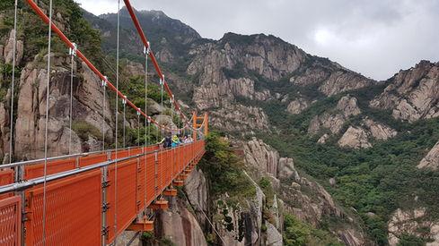 Mt. Wolchulsan National Park, Suspension bridge(Gureumdari)-Tagy Travel Korea