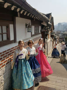 Tagy Travel Korea - wearing hanbok experience -Bukchon Hanok Village