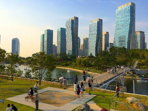 Korea private tour-Tagytravelkorea, Songdo Central Park