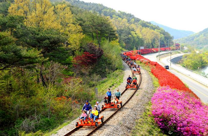 Seomjingang River Rail Bike, 2days Jeonlla Province tour