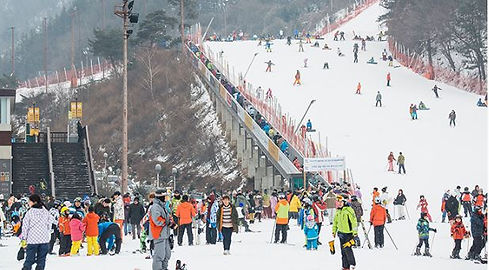Elysian Gangchon Ski Resort-South Korea winter